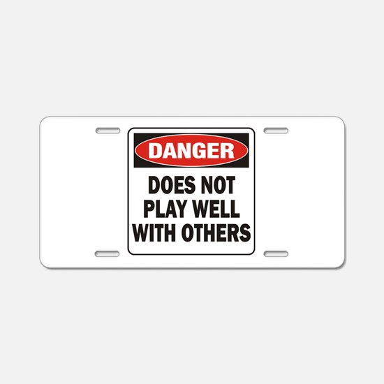 Play Well Aluminum License Plate