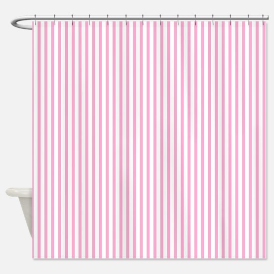 Thin pink stripes Shower Curtain