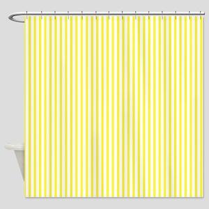 Thin yellow stripes Shower Curtain