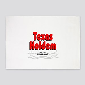 Texas Holdem:Who Says It's Just A G 5'x7'Area Rug