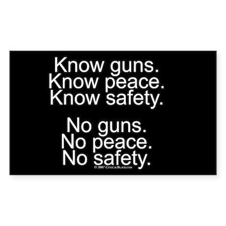 Know Guns Rectangle Sticker