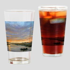 Chincoteague Marsh Sunrise Drinking Glass