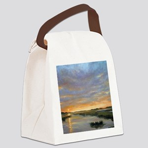 Chincoteague Marsh Sunrise Canvas Lunch Bag