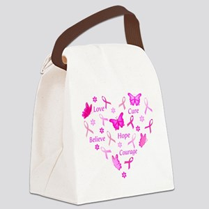 Go Pink Canvas Lunch Bag