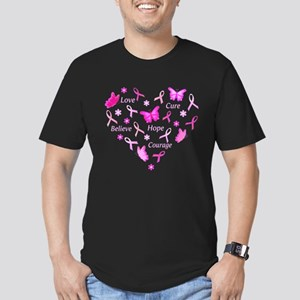 Go Pink Men's Fitted T-Shirt (dark)