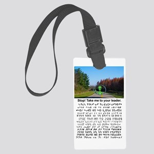 to your leader Large Luggage Tag