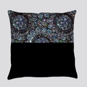 Beaded Sequin Flowers Photo Master Pillow