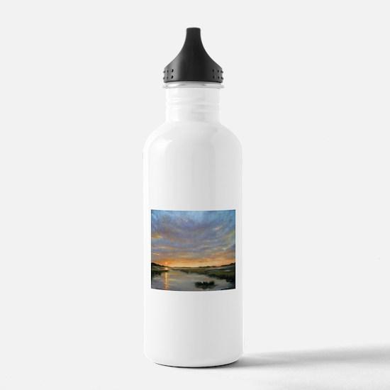 Chincoteague Marsh Sun Water Bottle