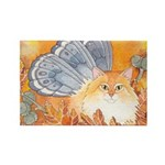 Autumn Kitty Fairy Rectangle Magnet
