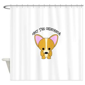 Chihuahua Cartoon Shower Curtains