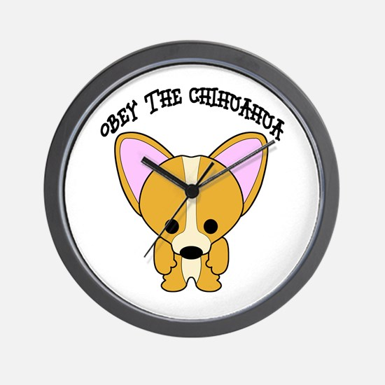 Obey The Chihuahua Wall Clock
