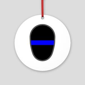 Blue Line LAPD Ornament (Round)