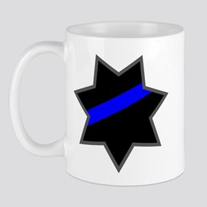 Blue Line Badge 4 Mug