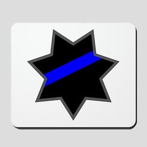 Blue Line Badge 4 Mousepad