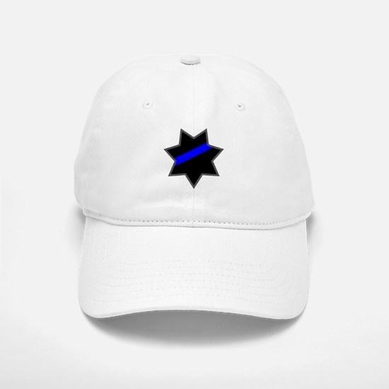 Blue Line Badge 4 Baseball Baseball Cap