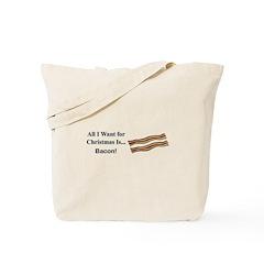 Christmas Bacon Tote Bag