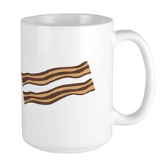 Christmas Bacon Large Mug