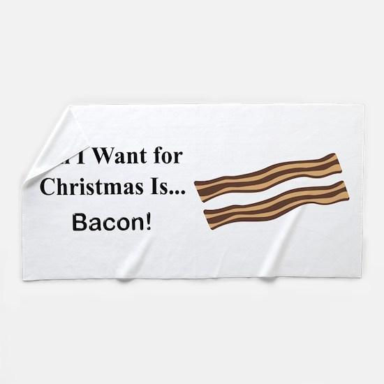 Christmas Bacon Beach Towel