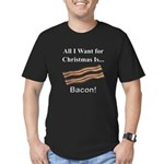Christmas Bacon Men's Fitted T-Shirt (dark)