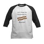 Christmas Bacon Kids Baseball Jersey