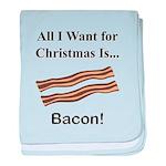 Christmas Bacon baby blanket