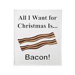 Christmas Bacon Throw Blanket