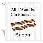 Christmas Bacon Shower Curtain