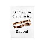 Christmas Bacon 5'x7'Area Rug