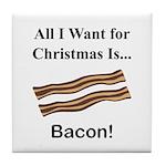 Christmas Bacon Tile Coaster