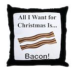 Christmas Bacon Throw Pillow