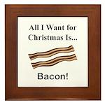 Christmas Bacon Framed Tile