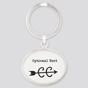 Cross Country Optional Text Oval Keychain