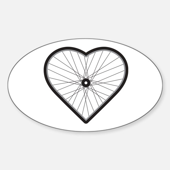 Love Road Cycling Sticker (Oval)