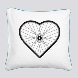 Love Road Cycling Square Canvas Pillow