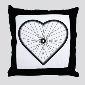 Love Road Cycling Throw Pillow