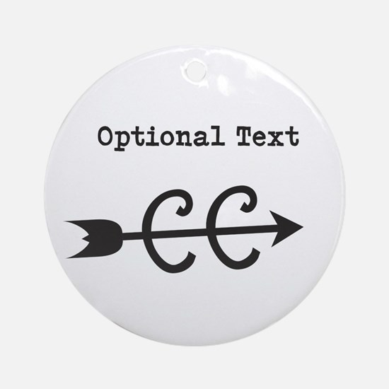 Customize Text Cross Country Ornament (Round)