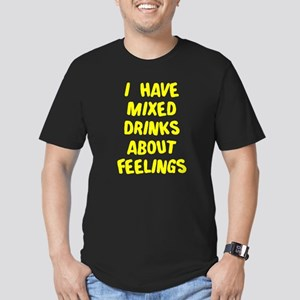 I have mixed drinks ab Men's Fitted T-Shirt (dark)