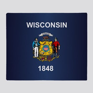 Wisconsin (v15b) Throw Blanket