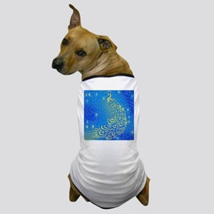 Sparkling Blue& Yellow Peacock Dog T-Shirt