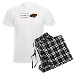 Christmas Chocolate Men's Light Pajamas