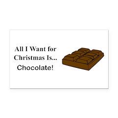 Christmas Chocolate Rectangle Car Magnet