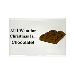 Christmas Chocolate Rectangle Magnet