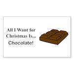 Christmas Chocolate Sticker (Rectangle 50 pk)