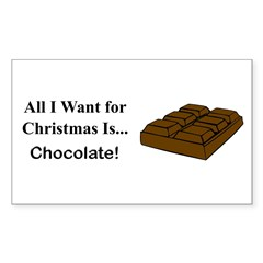 Christmas Chocolate Sticker (Rectangle)