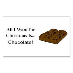 Christmas Chocolate Sticker (Rectangle)