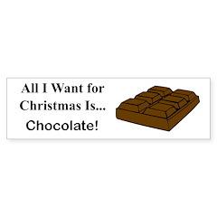 Christmas Chocolate Sticker (Bumper)