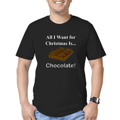 Christmas Chocolate Men's Fitted T-Shirt (dark)