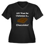 Christmas Ch Women's Plus Size V-Neck Dark T-Shirt