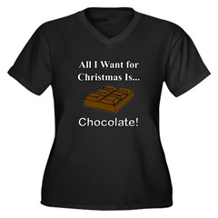 Christmas Ch Women's Plus Size V-Neck Dark T-Shirt
