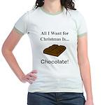 Christmas Chocolate Jr. Ringer T-Shirt